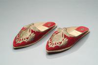 Velvet Slippers Embroidered with Gold Thread, 1935