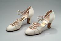 Silk Evening Shoes with Ankle Straps, 1935