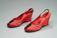 Satin Wedge Slippers, 1937