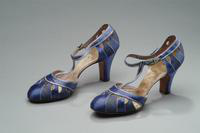Silk and Satin Evening Shoes with Rhinestone Buckles, 1934