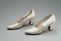 White Satin Wedding Slippers, 1918