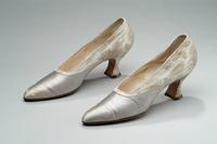 Silver Shoes with Floral Print, 1928
