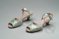 Light Blue Open Toe Shoes with Ankle Straps, 1938