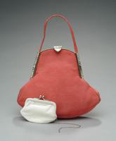 Satin Evening Bag with Rhinestone Clasp, 1938