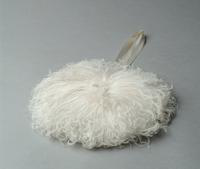 Round Evening Bag Made of Ostrich Feathers, 1930