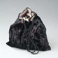 Cut Velvet Pouch with Drawstring Closure, 1935