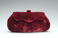 Burgundy Velvet Clutch Bag, 1930