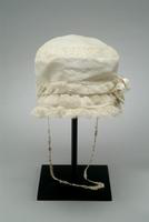 Child's White Dotted-Swiss Hat, 1919