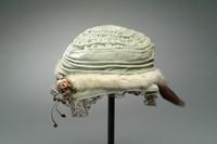 Child's Velvet Cloche Hat Accented with Ermine Fur, 1920