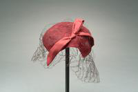 Lace Hat Accented with a Veil and Silk Bow , 1930