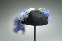 Felt Hat Accented with Ostrich Feathers, 1940