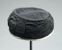 Crepe Cloche with Draped Crown and No Brim, 1920