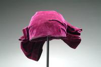 Burgundy Velvet Cloche Hat with Large Bow, 1926