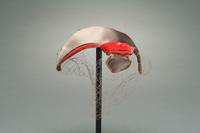 Satin Cloche Hat with Velvet Accents, 1950