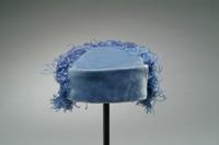 Velvet Cloche Hat with Ostrich Feathers, 1933