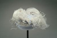 Felt Hat with Upturned Brim and Ostrich Feathers, 1944