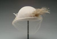 Fur Felt Hat Accented with Feathers, 1947