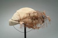 Felt Hat with Painted Feathers Accents, 1947