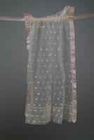 Sheer Dotted Apron with Satin Ribbon Edging, 1924