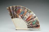 Hand Fan with Pierced Ivory Monture, 1875