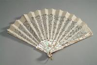 Lace Fan with Mother of Pearl Monture, 1850