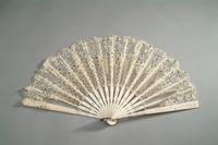 Sequined Lace fan with Ivory Monture, 1850