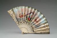Painted Fan with Ivory Monture, 1850