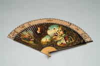 Hand Fan with Painted Detail, 1875