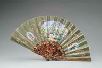 Sequined and Painted Fan with Tortoise Shell Monture, 1930