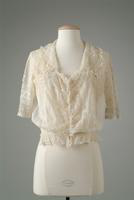 White Cotton Net and Lace Blouse, 1917