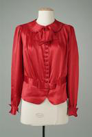 Red Silk Crepe Blouse, 1936