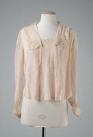 Pleated Chiffon Blouse with cuffs, 1917