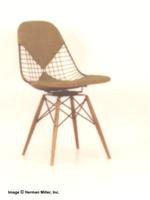 Herman Miller Upholstered Wire Swivel Chair