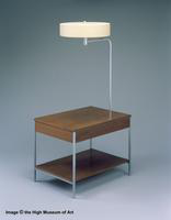 Herman Miller End Table with Drawer and Lamp