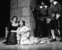 Eleanor Felver as Alisa, Catherine Malfitano as Lucia, Allan Glassman as Normanno, Robert Termine as Enrico, chorus