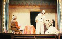 Jon Frederic West as Canio, Marianna Christos as Nedda, Jerry Minster as Beppe