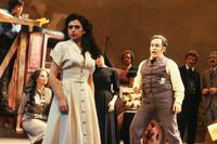 Marianna Christos as Nedda, Jon Frederic West as Canio