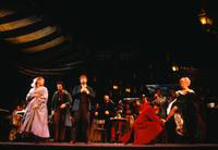 Karen Hunt as Mimi, George Livings as Rodolfo, Stephen Dickson as Marcello, Tony Dillon as Alcindoro, Jan Albright as Musetta, ensemble. Cast 2
