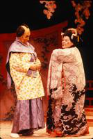 Tom Pedersen as Pish-Tush, Jocelyn Wilkes as Katisha