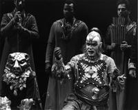 Keith Austin Brown as Monostatos, ensemble