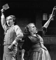 David Cryer as Sweeney Todd, Judy Kaye as Mrs. Lovett