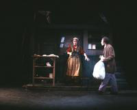 Judy Kaye as Mrs. Lovett, David Cryer as Sweeney Todd