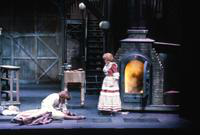 David Cryer as Sweeney Todd, Rebecca Luker as Johanna