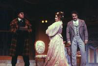 Michael Gallup as Frank - the Prison Warden, Marilyn Mims as Rosalinda, Andre Jobin as Gabriel von Eisenstein