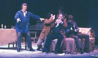 Andreas Poulimenos as Marcello, Vyacheslav M. Polozov as Rodolfo, Stephen Dupont asColline, Ronald Baker as Schaunard, Michael Gallup as Benoit