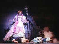 Laura Lamport as Sandman/Dewfairy, Kathleen Hegierski as Hansel, Janet Williams as Gretel