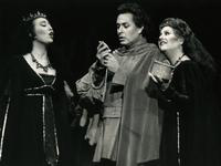 Laura Lamport as First Lady, Walter MacNeil as Tamino, Kathleen Segar as Third Lady