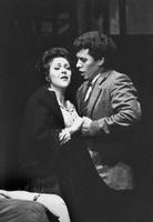 Stella Zambalis as Mimi, Cesar Hernandez as Rodolfo. Cast 1