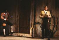 LeRoy Villanueva as Figaro, Mark Calkins as Count Almaviva