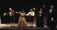 Thomas Hammons as Dr. Bartolo, Janet Williams as Rosina, Pablo Elvira as Figaro,Ara Berberian as Don Basilio